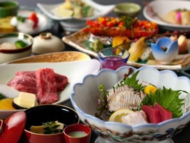 あわび、佐賀牛A5の特選料理『シニア割~贅~』